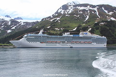 Island Princess Ship  at Whittier Port, Alaska, view from  Kenai Star for a cruise to the most spectacular glaciers in Whittier. (Angel Moreno Photography) Tags: anchorage alaska islandprincessship whittierport kenaistar cruise glaciers prince snow water mountains photography