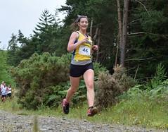 A flying Fiona Cruickshanks of the Anster Haddies! (Johnamill) Tags: touroffife strathmiglo falkland lomond trail race johnamill