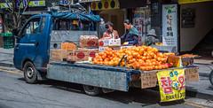 2017 - Korea - Seoul City - 10 of (Ted's photos - For Me & You) Tags: 2017 cropped korea nikon nikond750 nikonfx seoul tedmcgrath tedsphotos vignetting truck streetscene street fruit vegetables purespect shadows seoulkorea