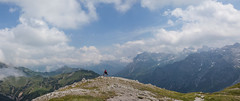 Bergsteiger pose (shenamt) Tags: berg vorarlberg austria lechquellenrunde hike hiker hiking bergsteiger bergsteigerin wander wandern göppingerhütte travel backpack backpacking trek trekking outdoor mountaintop vast height sky adventure clouds mist fog distance topoftheworld