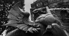 Paris -10juillet 2017-2 (bebopeloula) Tags: photorobertcrosnier 2017 europe fontainesaintmichel france iledefrance nikond700 paris uga noiretblanc sculpture