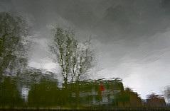 British Estates (andressolo) Tags: reflection reflections reflected reflect reflejos reflejo ripples canal city clouds grey trees building buildings london hackney dark distortions distortion distorted