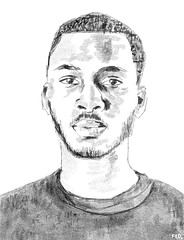 Guy with short hair (faceseveryday) Tags: fed134 art illustration drawing redditgetsdrawn portrait photoshop sketch scribble male boy man guy moustache beard african blackandwhite