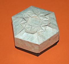 Triangular ring tessellation (mganans) Tags: origami tessellation box