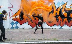170714 6880 (steeljam) Tags: steeljam nikon d800 lightpainters olympic park canal hertford union smoke
