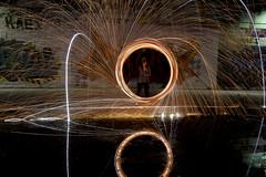 170714 6999 (steeljam) Tags: steeljam nikon d800 lightpainters olympic park canal hertford union wire wool spinning