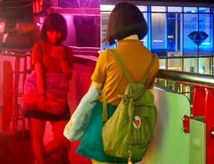 La vie en rose (mathildehrl1) Tags: asia bangkok tourism street colors pink bright girl