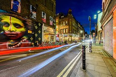 Brick Lane, Shoreditch, London, UK (davidgutierrez.co.uk) Tags: london photography davidgutierrezphotography city art architecture nikond810 nikon urban travel color night blue londonphotographer uk davidgutierrez capital structure britain greatbritain streets d810 artistic streetart artist candid bluehour twilight buildings longexposure le ultrawideangle afsnikkor1424mmf28ged 1424mm lights vibrant graffiti shoreditch bricklane eastlondon community colour colours colourful arts culture photographer street centrallondon england unitedkingdom colors 伦敦 londyn ロンドン 런던 лондон londres londra europe beautiful cityscape road attraction dusk market streaminglights lighttrails shop people person traffic streetphotography