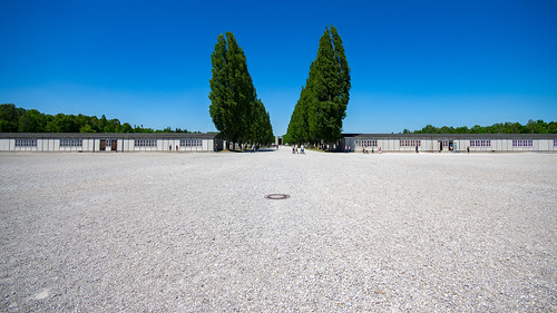 Roll call area & camp road, Dachau, 20170527