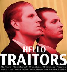 Trumps - traitors (Crickett-Grrrl) Tags: trump traitor treason trumprussia erictrump donaldtrumpjr putinspuppets nepotism emoluments crime trumpchina rico corrupt