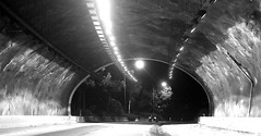 Road tunnel (judith511) Tags: 7daysofshooting week48 openings blackandwhitewednesday roadtunnel pacifichighway