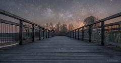 Somewhere in Austria (SPfaffi) Tags: tx2 fuji sky sterne brucke stars bridge österreich nacht night austria