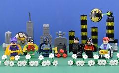 "Batbye Adam ""Batman"" West (Alex THELEGOFAN) Tags: lego legography minifigure minifigures minifig minifigurine minifigs minifigurines batman dc comics super heroes tv classic series 1960 1960s adam west gotham city flowers rip tombstone bat"