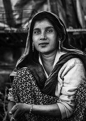 Village Lady (Harshal Orawala) Tags: village lady bnw old kutch gujarat 121clicks portrait india indian