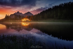 The house in the lake (Iván F.) Tags: dolomiti lake italy dolomitas lago larga exposicion sunset sundown long exposure travel mountain reflection reflections house colour color tourism explore explorer exploration awesome sony zeiss nisi