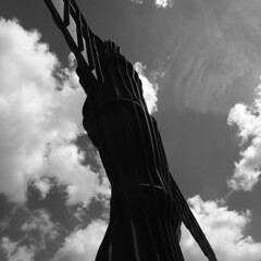 angel of the north (the incredible how (intermitten.t)) Tags: angelofthenorth sculpture publicart newcastleupontyne anthonygormley sky 20170603 11847 cloud