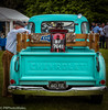 Chevvy and Indian (PRPhoto dot Wales) Tags: 1954 manchester cars chevrolet classic indian motorcycle oldman painted pickup turquoise van pembrokeshire canon eos photograph nothdr