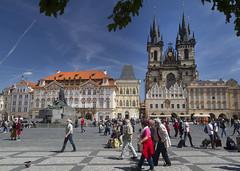Prague (Leaning Ladder) Tags: prague praha czech czechrepublic statue sculpture leaningladder bohemia canon 7d