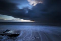 It Stole the Colour from the Sun (Explored) (Griff~ography) Tags: hunstanton sunset dusk coast norfolk storm dark rocks water longexposure