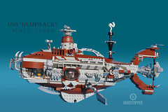 "The_Humpback-1a (Markus ""Madstopper"" Ronge) Tags: steampunk lego submarine uboot madstopper"