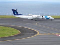 Bombardier Dash 8 approaching Horta 170616_024 (jimcnb) Tags: 2017 juni urlaub azoren azores açores faial horta airport castelobranco bombardier dash 8 cstrf sata