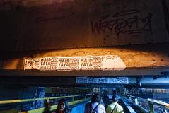 Ads Under the Viaduct (bryanshoots) Tags: urban night city lights alabang muntinlupa philippines panasonic lumix lx100 street streetphotography