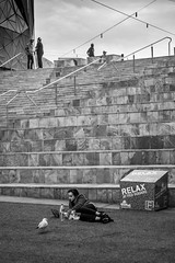 Relax at Fed Square (julieabreu.photography) Tags: melbourne melbournephotographer megacities minimalism portrait streetphoto street streetphotography streetlife people relax australia documentary documentlife federationsquare
