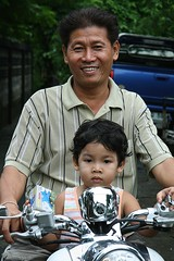 father and son (the foreign photographer - ฝรั่งถ่) Tags: father son motorcycle khlong thanon portraits bangkhen bangkok thailand canon kiss