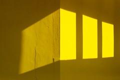Light Patches (EstebanPerrin) Tags: minimal composition shade squares light wall sun yellow portra kodak filmphotography onepictureaday archivedigging