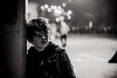 Pensées du soir (PaxaMik) Tags: noiretblanc noir n§b b§w black portrait portraitnoiretblanc street streetphoto streetphotography night nuit nocturne pensée thoughts mélancolie melancholy genève bokeh