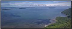 SamishOverlookPano2 (tellytomtelly) Tags: samishoverlook blanchardmountain washington overlook samishisland lummiisland elizaisland orcasisland cypressisland