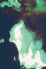 I hope that you remember me. (Captain Nots) Tags: fire bonfire flames blue blueflame iseefire silhouette shadows shadowplay lightplay light summer minnesota witch witchcraft beltane magic magical spell