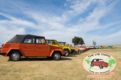 Things West Group Photo (Eric Arnold Photography) Tags: vw volkswagen thing things type 181 blackstar camp camping campout sunset california ca cali prado regional park chino hills 2017 1973 1974 73 74 vert convertible surf surfboard board car