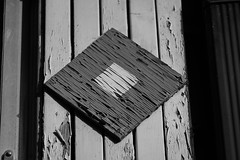 Old wood, ata Langley B.C. Canada (dpierce6) Tags: black white crack lines paint house peeling plank board