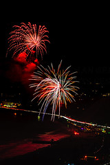 30 (morgan@morgangenser.com) Tags: pacificpalisaddes beach belairbayclub blue celebrate fireworks color iso100 july3rd loud nikon night ocean orange pch people red reflection special spectacular streaks timeexposire tripod yellow amazing