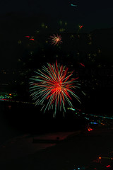 08 (morgan@morgangenser.com) Tags: pacificpalisaddes beach belairbayclub blue celebrate fireworks color iso100 july3rd loud nikon night ocean orange pch people red reflection special spectacular streaks timeexposire tripod yellow amazing