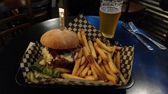 The Ferminator Burger (jimmywayne) Tags: mtvernon mountvernon washington skagitriver skagitcounty brewery food burger