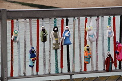 Knitted toys on Herne Bay Pier (ec1jack) Tags: kent england britain uk europe gardenofengland ec1jack canoneos600d kierankelly june 2017 coast beach seaside crochet knitted knit wool toys hernebaypier mary joseph 3wisemen nativity