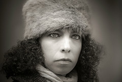 Portrait (svklimkin) Tags: portrait girl retro look black white face personality svklimkin dramatic actor cinema