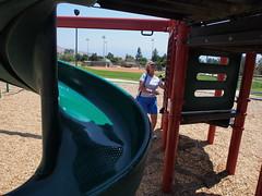 P6010588 (photos-by-sherm) Tags: corona ca california spring public park playground swings jungle gym slides