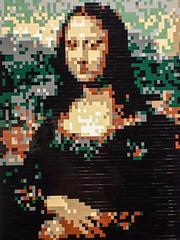 The Mona Lisa by Leonardo DaVinci recreated by Lego artist Nathan Sawaya (mharrsch) Tags: monalisa leonardodavinci legos nathansawaya artist sculpture exhibit artofthebrick oregonmuseumofscienceandindustry omsi portland oregon mharrsch