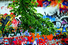 Human nature (Anoplius) Tags: anoplius czech republic prag nikon nikond5100 colour color wall wand green grün tree baum graffiti painting