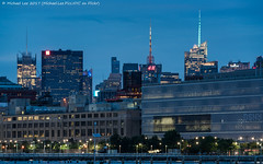 Skyline View (20170706-DSC06914-Edit) (Michael.Lee.Pics.NYC) Tags: newyork pier25 hudsonriver tribeca midtownmanhattan dsny departmentofsanitation weststreet night twilight bluehour longexposure esb empirestatebuilding timessqyare comcast hm newyorktimes 1pennplaza architecture cityscape sony a7rm2 fe70300mmg