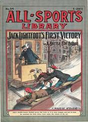 Daring rescue dime novel cover (steammanofthewest) Tags: dimenovel 1906 daringrescue boyhero jacklightfoot sledding trolley