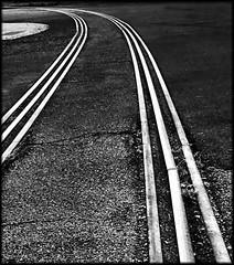 Lines that connect us (Bob R.L. Evans) Tags: railroadtracks commerce lowkey contrast lightandshadow ipadphotography symbol metal iron unusual