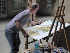 Pintura en la calle (6) (juantiagues) Tags: pintor cuadro pintura calle rúa juantiagues juanmejuto