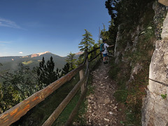 "At the ""High Wall"" (aniko e) Tags: hike path trail mountain hiking cucul cislon truden trodena altoadige südtirol italien italy hochwand wall summer"