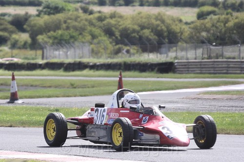 Ivor Mairs in the Formula Ford FF1600 championship at Kirkistown, June 2017