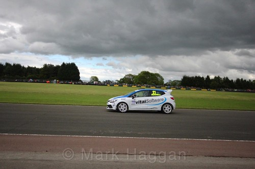 Mike Bushell in the Renault Clio Cup during the BTCC weekend at Croft, June 2017