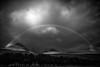 Glenbrittle Rainbow Black n White (amcgdesigns) Tags: andrewmcgavin skye isleofskye glenbrittle stormy drama cuillin blackcuillin eos7dmk2 clouds light scotland scottishweather scottishlandscape scottish landscape cuillins blackandwhite mono monochrome dark moody rainbow silverefex sgurrdearg sgurrnabanachdich canon1022mm cloudsstormssunsetssunrises
